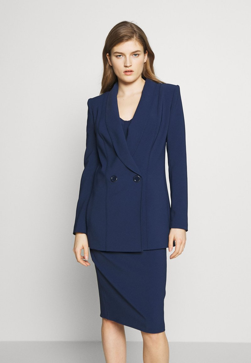 Elisabetta Franchi - Short coat - blue navy