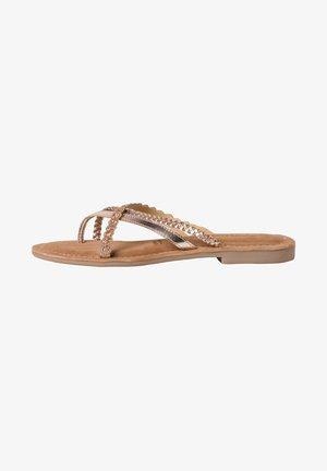 SLIDES - T-bar sandals - copper glam