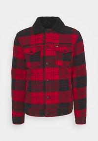 WOOL MIX  SHERPA JACKET - Light jacket - red