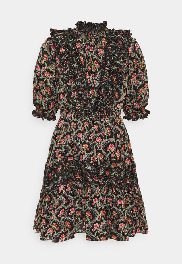 SLUB MINI DRESS - Vestito estivo - dark wallpaper