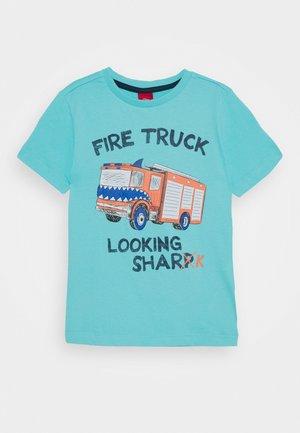 Print T-shirt - türkisblau
