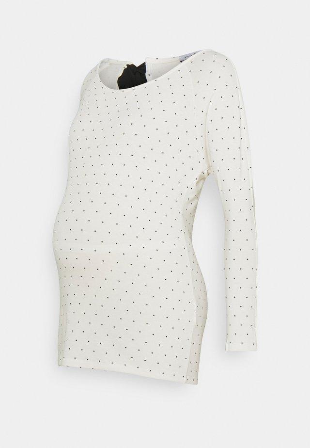 JANE - Sweter - off white/black