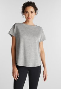 Esprit Sports - Print T-shirt - medium grey - 0