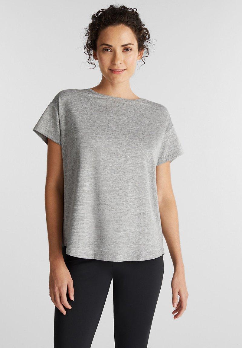 Esprit Sports - Print T-shirt - medium grey