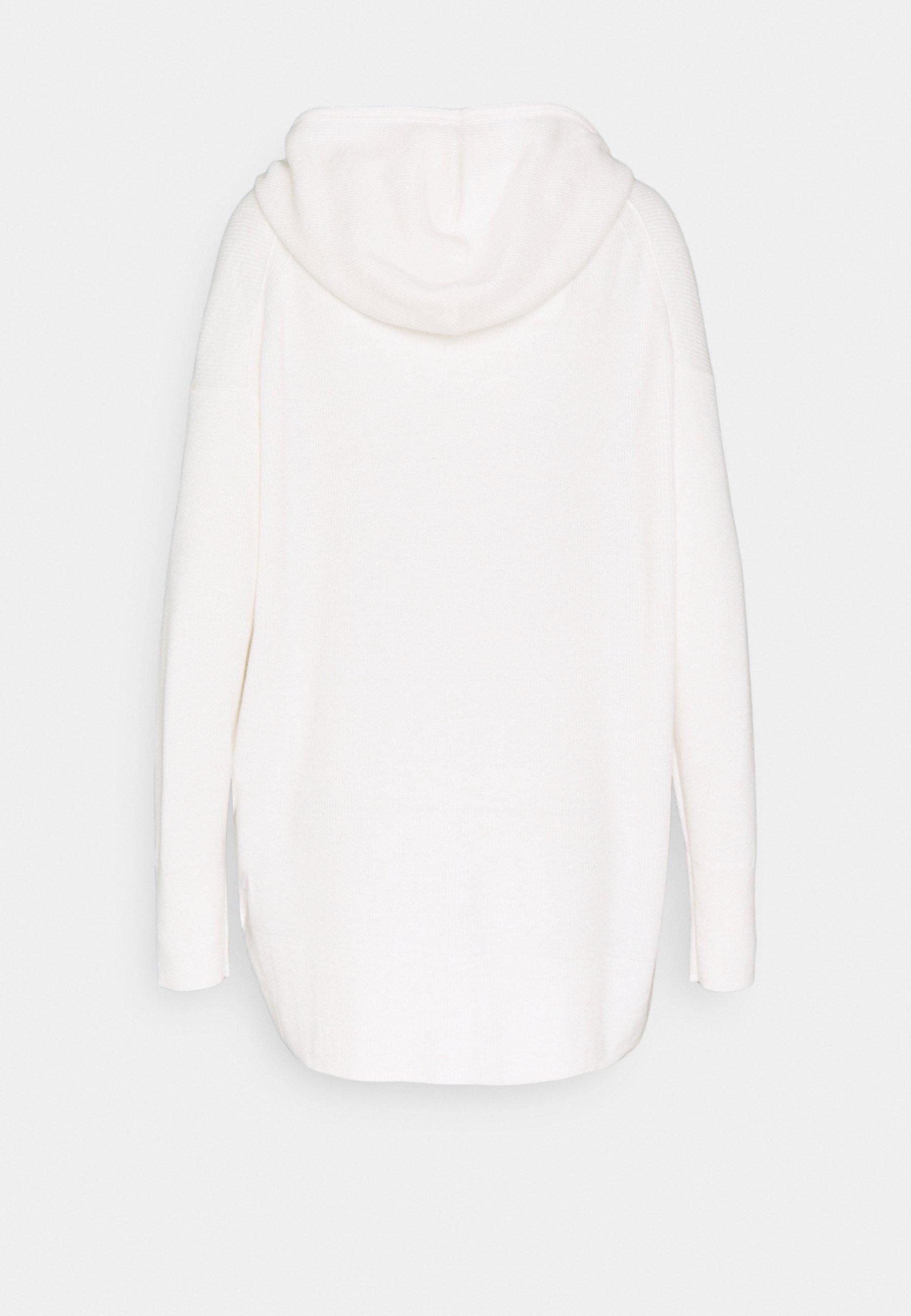 Calvin Klein HOODED - Neuletakki - ecru heather GX9i9