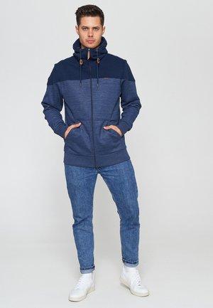 Zip-up hoodie - navy / navy mel.