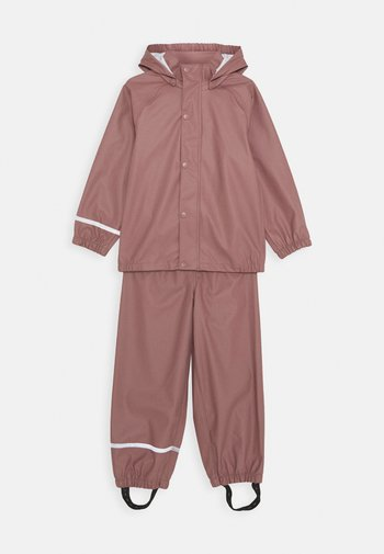 NKNDRY RAIN SET UNISEX - Rain trousers - wistful mauve