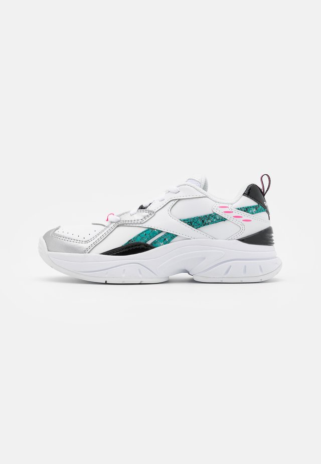 XEONA UNISEX - Sports shoes - white/black/totaly teal