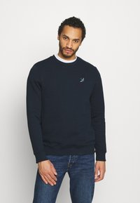 Burton Menswear London - SWALL EMBROIDERED CREW - Sweatshirt - navy - 0