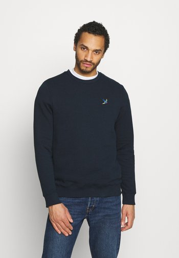 SWALL EMBROIDERED CREW - Felpa - navy