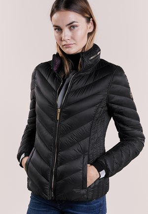 SHORT PACKABLE PUFFER - Dunjacka - black