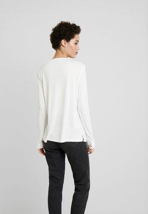 FABRIC MIX - Blouse - whisper white