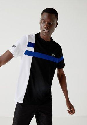 TH2070 - T-shirt print - noir / blanc / bleu / noir