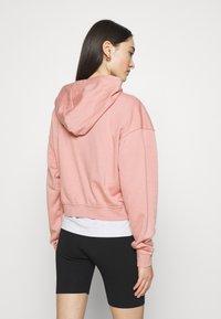Nike Sportswear - Zip-up sweatshirt - rust pink/white - 2