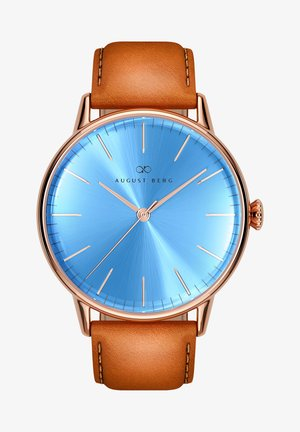 UHR SERENITY SKY BLUE LEATHER 40MM - Watch - sky blue