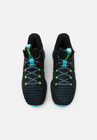 Nike Performance - LEBRON WITNESS V - Basketball shoes - black/lagoon pulse/green strike - 3