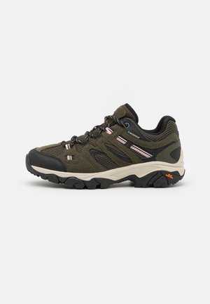 RAVUS VENT LITE LOW WP WOMENS - Trekingové boty - forest green/black/mellow rose