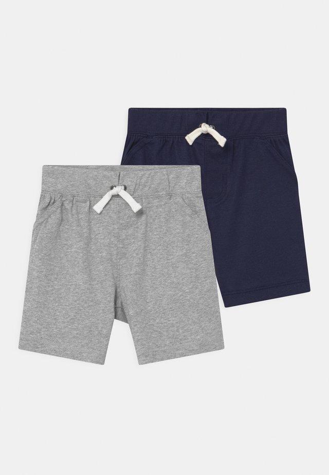 2 PACK - Shorts - dark blue/mottled grey