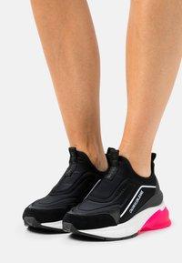Calvin Klein Jeans - WEDGE SPORTY - Slip-ons - black - 0