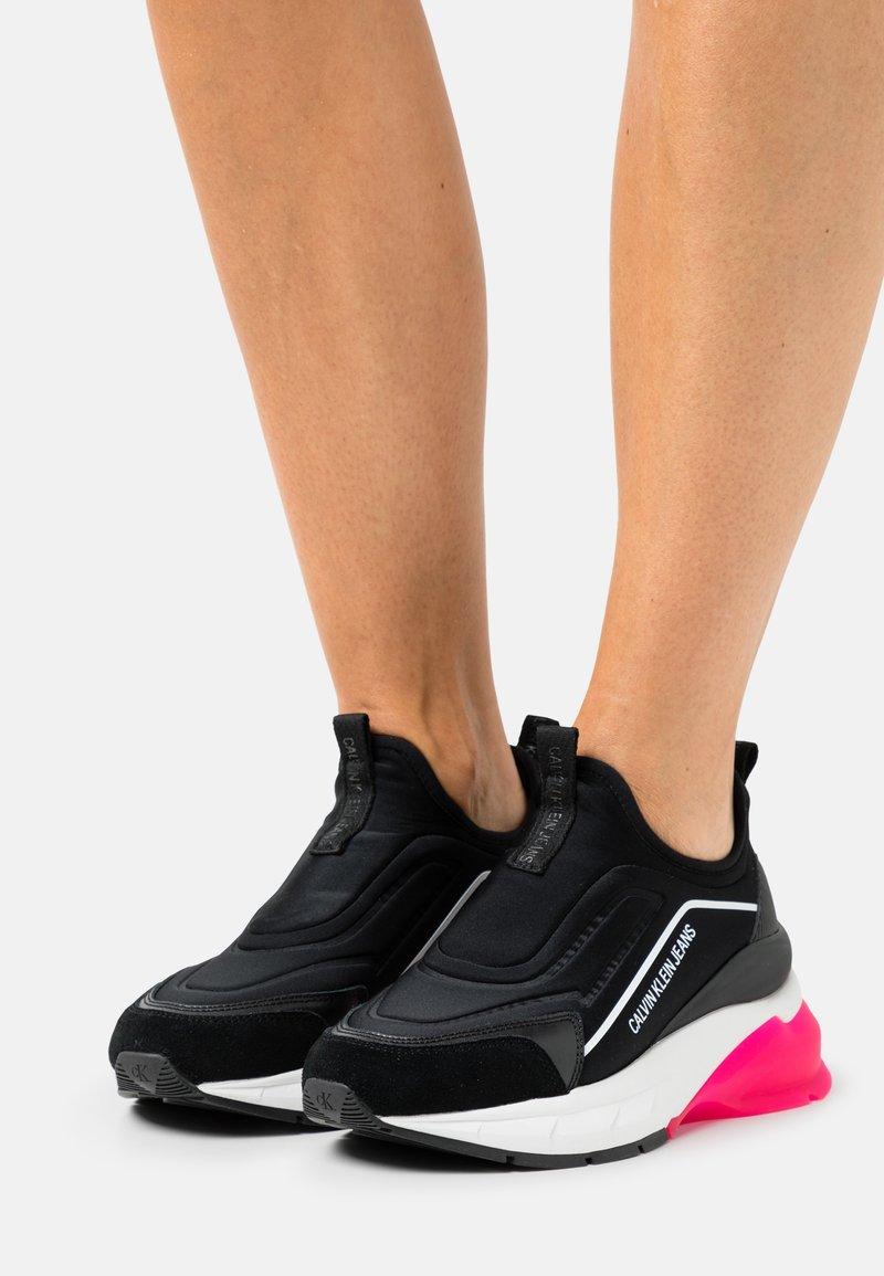Calvin Klein Jeans - WEDGE SPORTY - Slip-ons - black