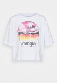 BOXY TEE - Print T-shirt - white