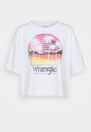 BOXY TEE - T-shirt imprimé - white