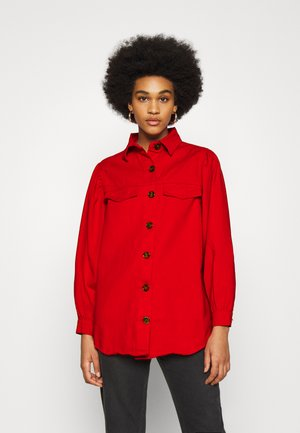 BALLOON SLEEVE  - Button-down blouse - red