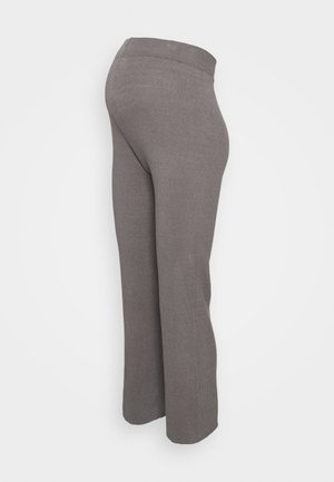 WIDE LEG TROUSER - Leggings - Trousers - dark grey
