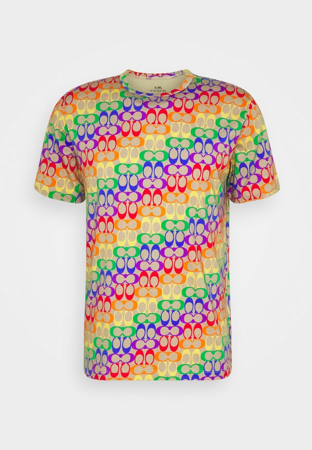 TEE RAINBOW SIGNATURE - Triko s potiskem - multi-coloured