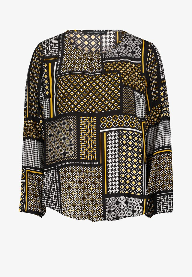 Blouse - black/yellow