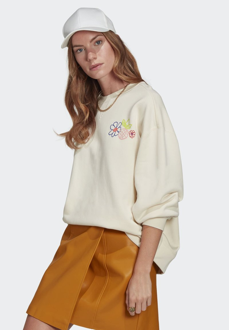adidas Originals - ADICOLOR ESSENTIALS SWEATSHIRT - Sweatshirt - white