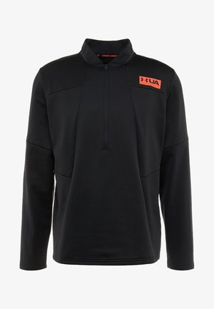 GAMETIME ZIP - Fleece jumper - black/beta red