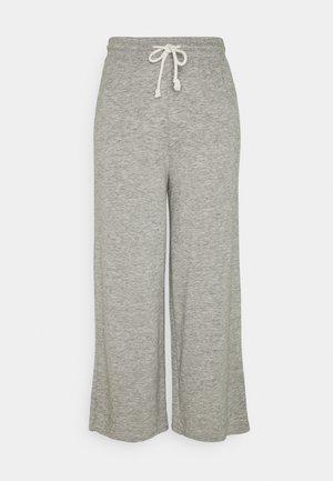 WIDE LEG LOUNE PANT - Tracksuit bottoms - heather gray