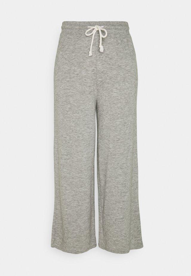WIDE LEG LOUNE PANT - Trainingsbroek - heather gray