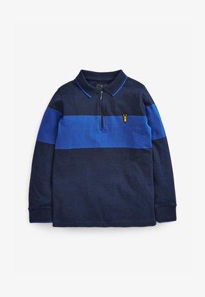 LONG SLEEVE COLOURBLOCK - Poloshirt - blue