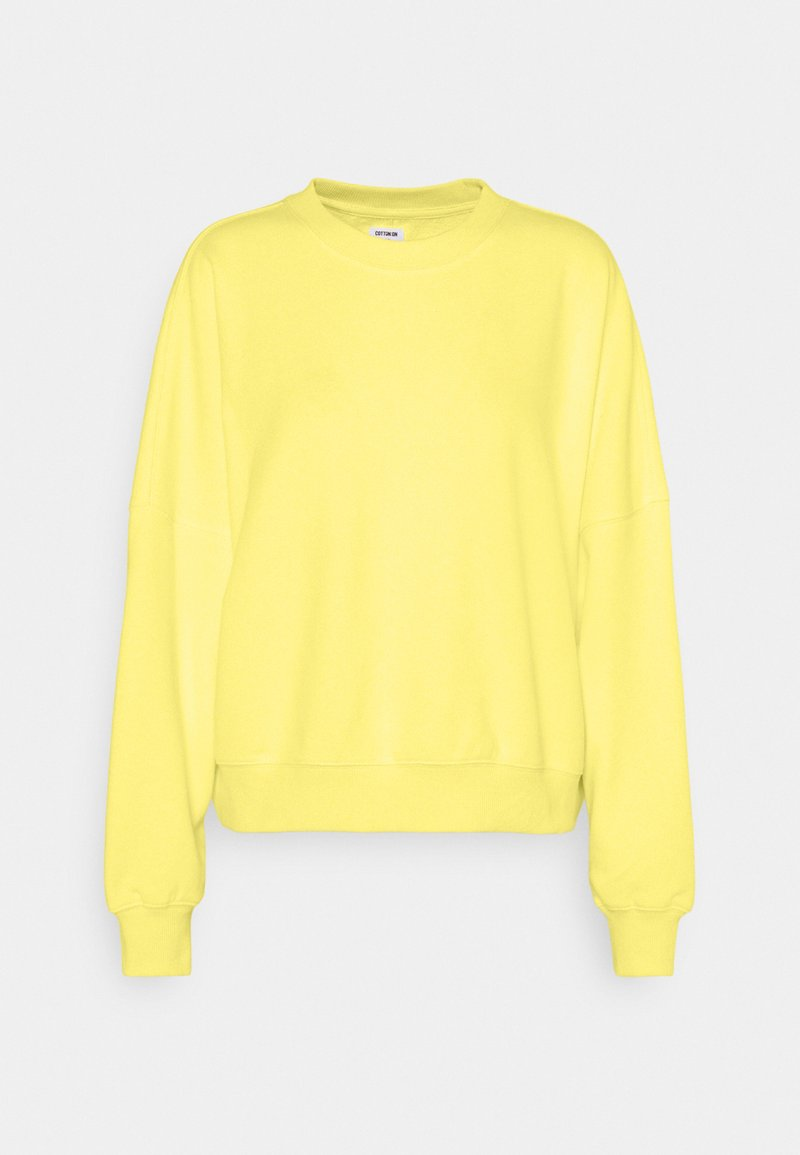 Cotton On - YOUR FAVOURITE CREW - Sweatshirt - lemon