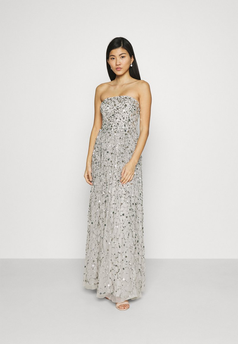 Maya Deluxe - ALL OVER EMBELLISHED BANDEAU MAXI - Occasion wear - soft grey