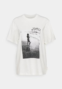Marc O'Polo - ROUND NECK SHORT SLEEVE - Print T-shirt - paper white - 0