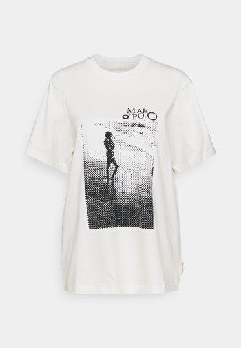 ROUND NECK SHORT SLEEVE - Print T-shirt - paper white