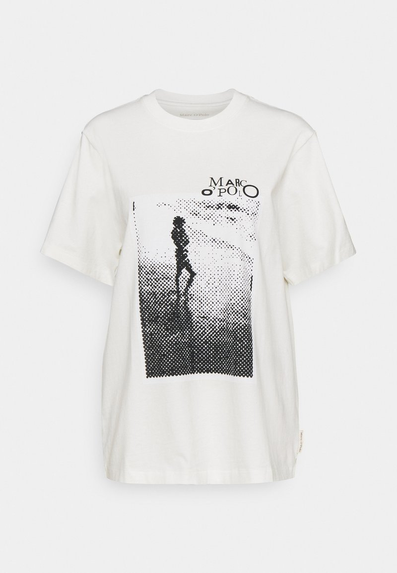 Marc O'Polo - ROUND NECK SHORT SLEEVE - Print T-shirt - paper white