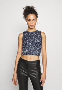 Lace & Beads - PICASSO - Top - navy - 0