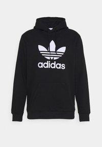 adidas Originals - TREFOIL HOODY ORIGINALS ADICOLOR SWEATSHIRT HOODIE - Luvtröja - black/white - 5