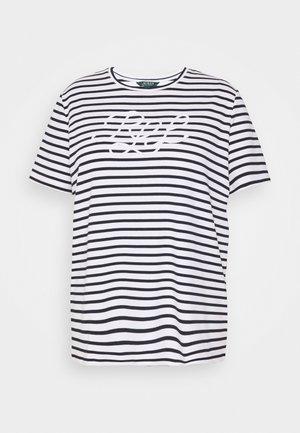 KATLIN SHORT SLEEVE - Print T-shirt - white/lauren navy