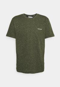 Calvin Klein - TURN UP SLEEVE - T-shirts print - dark olive - 3