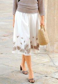 Alba Moda - A-line skirt - weiß haselnuss - 3