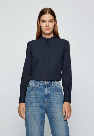 Button-down blouse - open blue