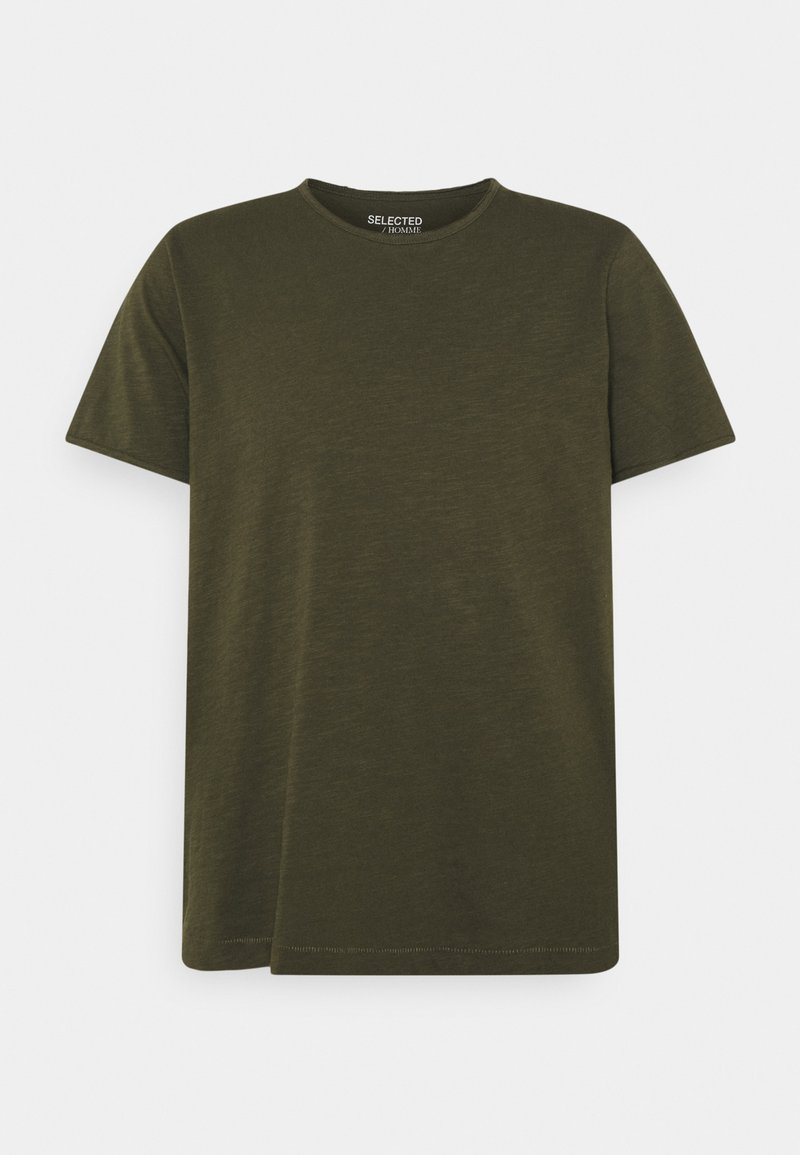 Selected Homme - SLHMORGAN O-NECK TEE - Basic T-shirt - forest night