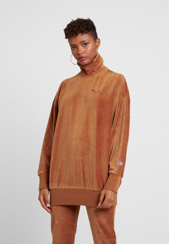 HIGH NECK - Sweater - brown