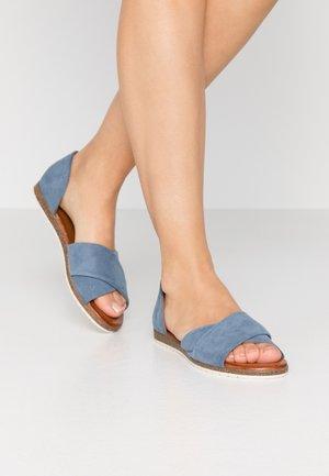 LEATHER - Sandaalit nilkkaremmillä - blue
