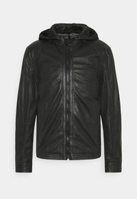 FANE - Leather jacket - black